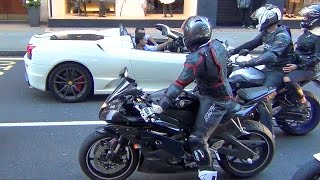 getlinkyoutube.com-Superbikes and Supercars Loud Sounds in the City!!
