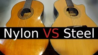 getlinkyoutube.com-Nylon String vs Steel String Guitar! - Which One Should You buy?