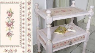 getlinkyoutube.com-How to decoupage furniture with rice paper a Table. Chalk paint tutorial - DIY.