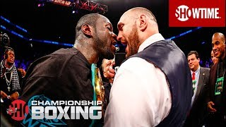 getlinkyoutube.com-Deontay Wilder and Tyson Fury Exchange Words   SHOWTIME CHAMPIONSHIP BOXING