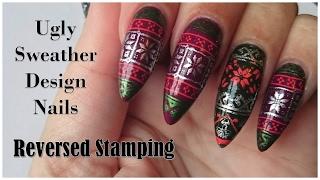 getlinkyoutube.com-Reversed Stamping | Ugly sweather design | NailsofNorway
