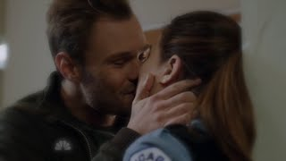 getlinkyoutube.com-Chicago P.D. 2x09 Kim Burgess and Adam Ruzek Kiss Scene