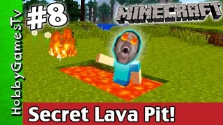 getlinkyoutube.com-Minecraft SECRET LAVA PIT Jump Tutorial Xbox 360 HobbyGamesTV