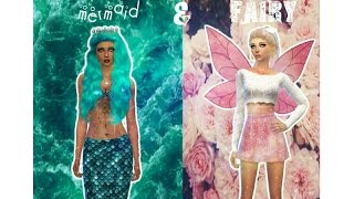 Sims 4- Create A Sim: mermaid & fairy