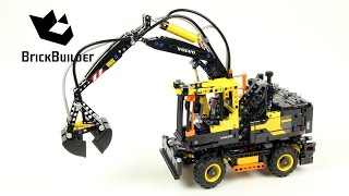 getlinkyoutube.com-Lego Technic 42053 Volvo EW160E - Lego Speed build