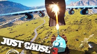 getlinkyoutube.com-JUST CAUSE 3 MOVIE STUNTS :: Just Cause 3 Crazy Stunts