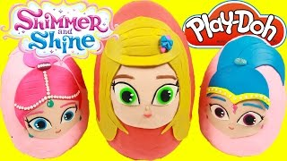 getlinkyoutube.com-Shimmer and Shine Grant a Wish -  Leah Surprise Play-Doh Egg -  Shimmer and Shine Toys Paw Patrol