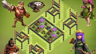 clash of clans - Town hall 9 ( th9 ) farming base design 2015 , replay anti 50%, anti giant