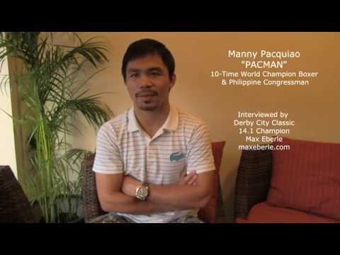 MANNY PACQUIAO LOVES TO PLAY POOL / BILLIARDS