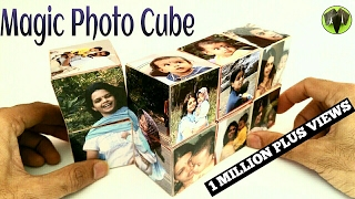"""How to make a """"Magic Photo Cube Album"""" for Mother's Day - Paper Craft Tutorial"""