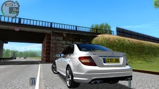 getlinkyoutube.com-City Car Driving 1.4.1 Mercedes C63 AMG [G27]
