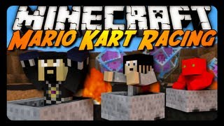 Minecraft Mini Game: SUPER MARIO KART RACING! w/ AntVenom & Friends!