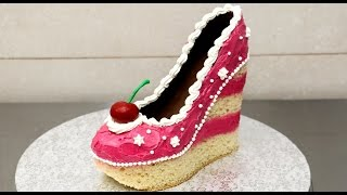 getlinkyoutube.com-Shoe Cake Idea - How To Make / Tarta Zapato