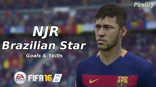 getlinkyoutube.com-FIFA 16: Neymar Jr. Brazilian Star ● Goals & Skills  ● HD |Pirelli7|