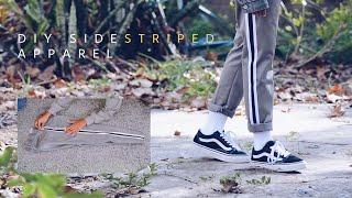 DIY SIDE STRIPED PANTS + T-SHIRT | USING RIBBON