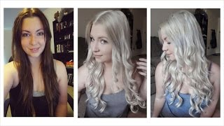 getlinkyoutube.com-How I Bleached My Hair | Dark Brown to Light Ash Blonde
