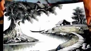 getlinkyoutube.com-رسام وفنان مبدع..رسم منظر طبيعي ♥.♥
