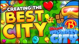 getlinkyoutube.com-GETTING THE SUPER MONKEY AND BUILDING THE BEST TOWN IN BLOONS MONKEY CITY (Bloons Monkey City #2)