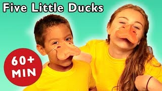 Five Little Ducks and More | Animal Hide and Seek Game | Baby Songs from Mother Goose Club!
