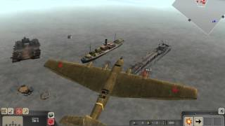 getlinkyoutube.com-Men of war Assault squad 3 planes vs some german ships test