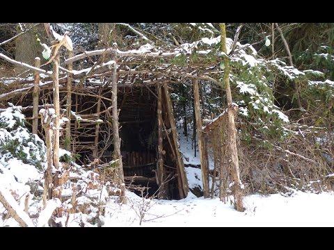Bushcraft Camp | Neuschnee & Wind | Winter Outdoor
