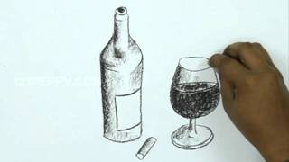 getlinkyoutube.com-How to Draw a Wine Bottle
