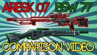 BSW 77 & Aresk 07 Comparison video! MC5! 60FPS!
