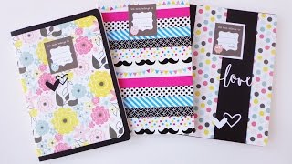 getlinkyoutube.com-Scuola: quaderni personalizzati - ENG SUBS BackToSchool: customized notebooks (Tesa)