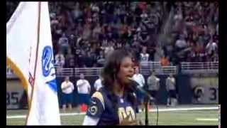 getlinkyoutube.com-Coco Jones Performing The National Anthem at the St. Louis Rams Game - 11/24/13