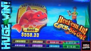 getlinkyoutube.com-Reel Em In Catch the Big One 2 Slot Machine Bonus - HUGE WIN!!!