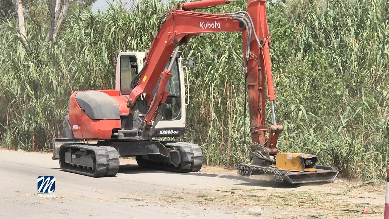 Trabajos de mejora en la zona del Río Manilva