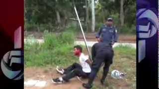 getlinkyoutube.com-Enardecidos vecinos linchan a un ladrón en La Ceiba