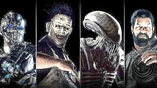 getlinkyoutube.com-Mortal Kombat X Alien, Leatherface, Triborg, Bo Rai Cho Fatality Fatalities Brutalities Compilation