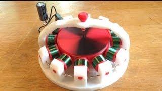 getlinkyoutube.com-No Batteries! EZ Spin V2 Motor Running on a Single 1000uf 16v Capacitor