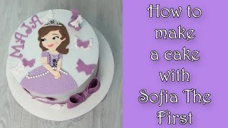 getlinkyoutube.com-How to make Sofia the First cake / Jak zrobić tort z księżniczką Zosią