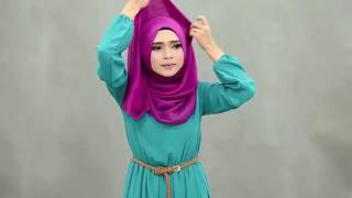 getlinkyoutube.com-لفات حجاب جميلة بسيطة و انثوية للصيف و عيد الفطر المبارك