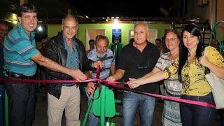 Nova Opção Notícias-Inauguração Academia Popular no Bairro Pereira