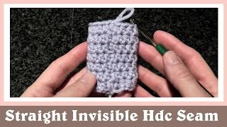 getlinkyoutube.com-Straight and Invisible Half Double Crochet Seam in Round Tutorial
