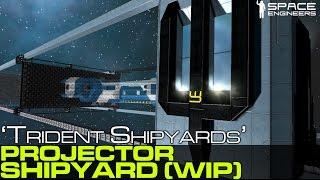 getlinkyoutube.com-Space Engineers - Trident Shipyards v1 (WIP) 3D Ship Printer