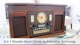 getlinkyoutube.com-Review of the 8 in 1 Wooden Music Center, by Innovative Technology