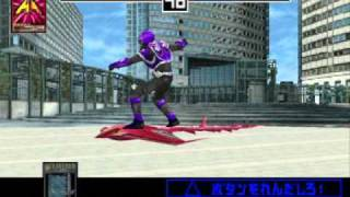 getlinkyoutube.com-Kamen Rider Ryuki - PS1/PSX Game - All Riders (Advents/Final Vents)