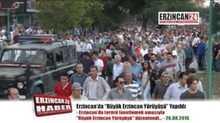 Binlerce Kişi Büyük Erzincan Yürüyüşü'nde Terörü Lanetledi