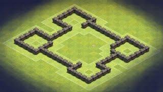 getlinkyoutube.com-Clash of Clans - TH4 Farming Base (Castle) anti giant, archer, barbarian