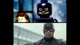 getlinkyoutube.com-Captain America: Civil War - Trailer IN LEGO (Side by Side)