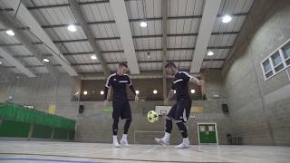getlinkyoutube.com-F2Freestylers Practice Session! Crazy Football Skills | Football Freestyle Double Act / Duo