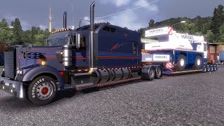 getlinkyoutube.com-Euro Truck Simulator 2 - kenworth W900B long with LTM 1030 trailer mod v1.12.1s Vid 24.