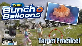 BUNCH O BALLOONS!!! Parent Target Practice with GoPro!