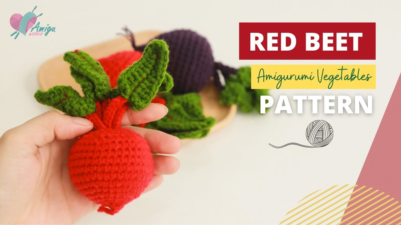 FREE Pattern – How to crochet a RED BEET amigurumi
