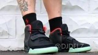 getlinkyoutube.com-Nike Air Yeezy 2 Black Solar Red Sneaker HD Review  + On Feet With @DjDelz