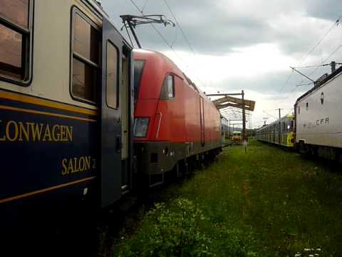 Plecarea  din Depoul Brasov a locomotivei Taurus 1116 23-1